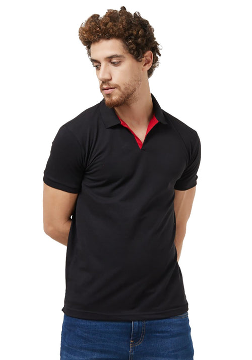 Basic PQ Polo T-Shirt - Black