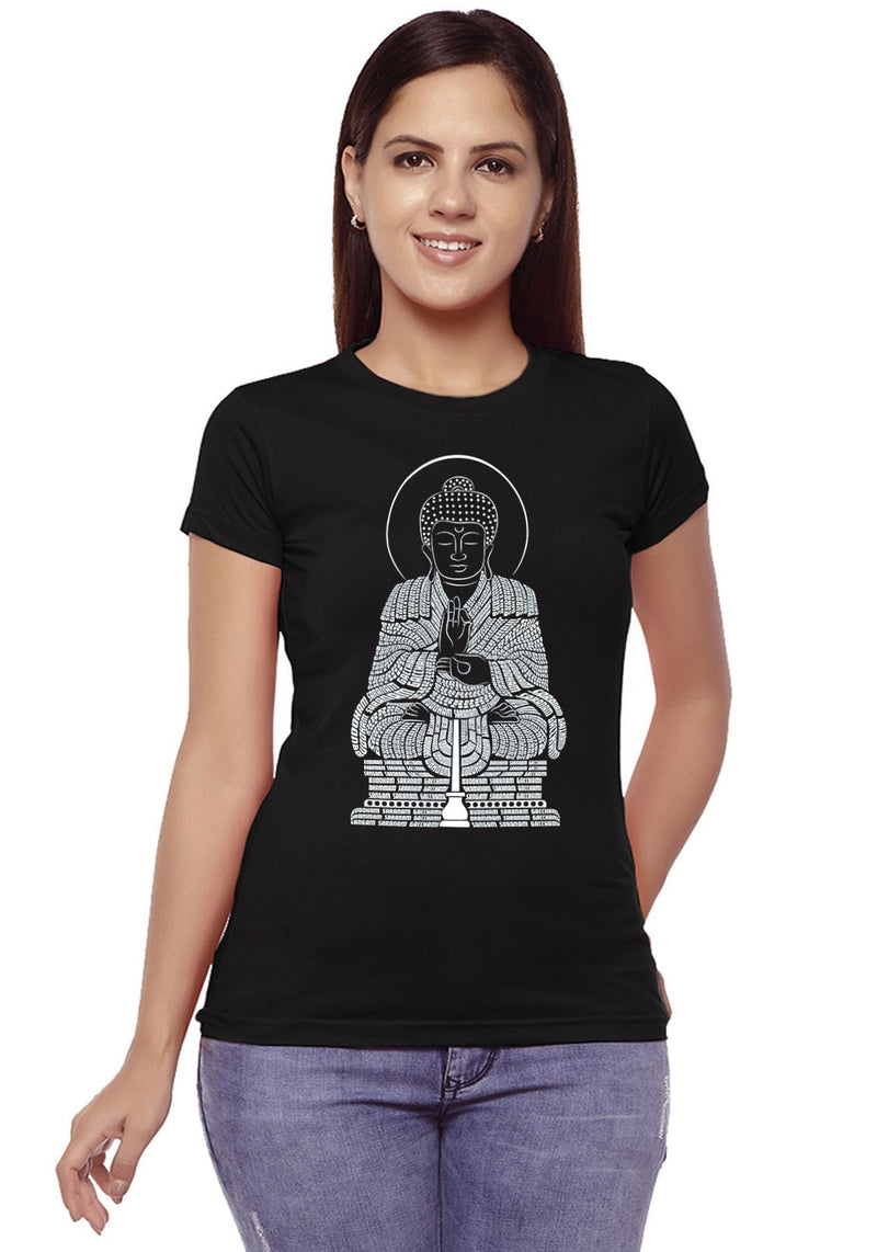 Buddha Typography Women T-Shirt
