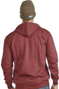 Burgundy Plain Zipper Sweatshirt - Wear Your Opinion - WYO.in  - 3