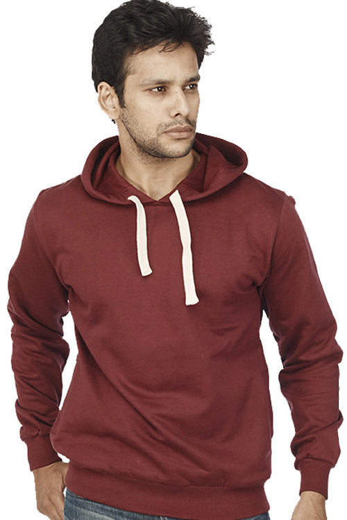 Burgundy Plain Sweatshirt - Wear Your Opinion - WYO.in  - 1