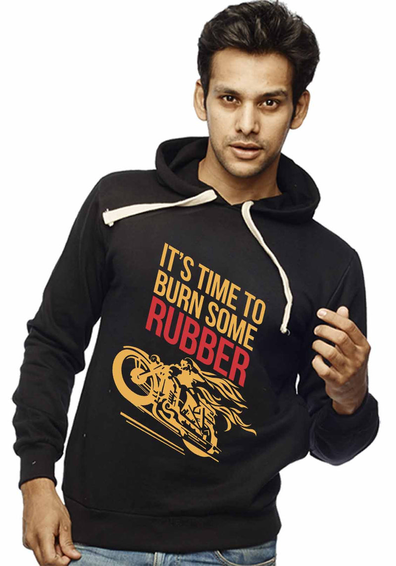 Burn Some Rubber Front Print Sweatshirt - Wear Your Opinion - WYO.in  - 2
