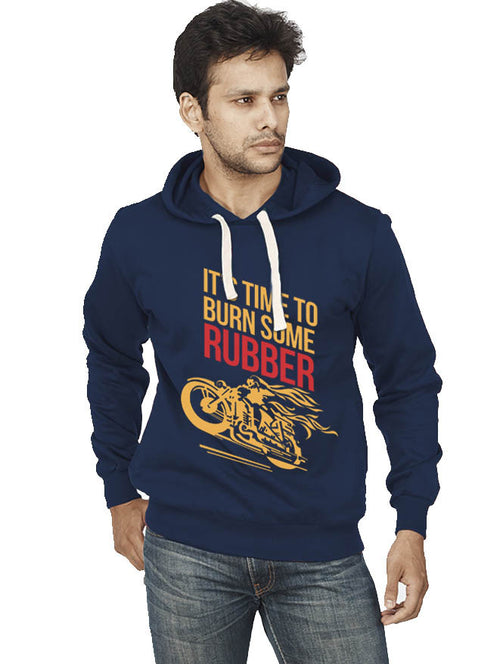 Burn Some Rubber Front Print Sweatshirt - Wear Your Opinion - WYO.in  - 1