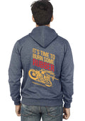Burn Some Rubber Back Print Zipper Sweatshirt - Wear Your Opinion - WYO.in  - 2