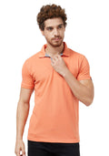Basic Slim Fit PQ Polo T-Shirt - Carrot