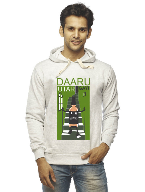 Daru Utar Gayi Front Print Sweatshirt - Wear Your Opinion - WYO.in  - 1