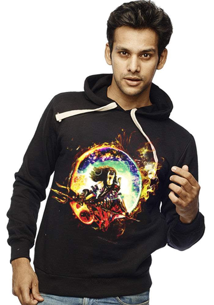 Destroyer Shiva Front Print Sweatshirt - Wear Your Opinion - WYO.in  - 1