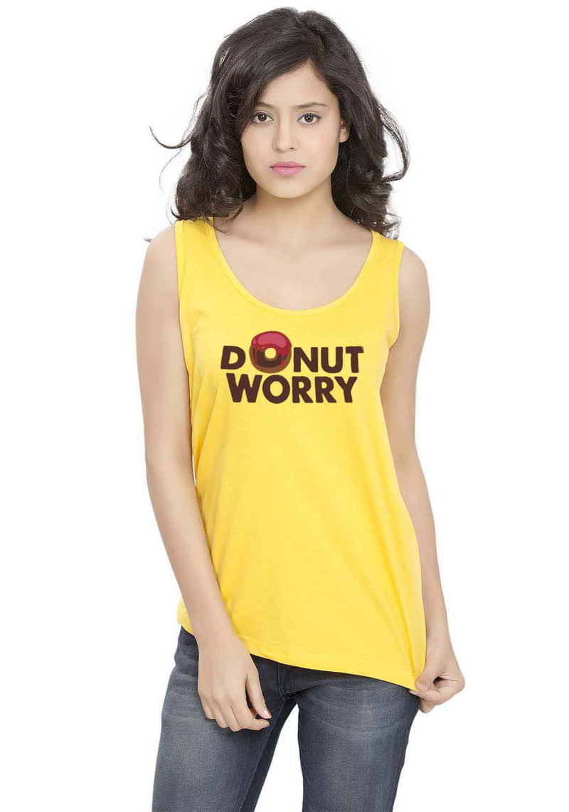 Donut Worry Sleeveless T-shirt
