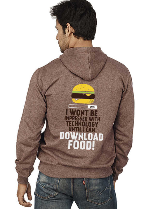 Download Food Back Print Zipper Sweatshirt - Wear Your Opinion - WYO.in