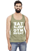 Gym Repeat Sleeveless T-Shirt - Wear Your Opinion - WYO.in  - 2