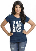 Gym Repeat Women Tshirt - Wear Your Opinion - WYO.in  - 3