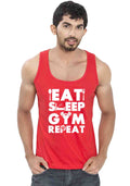 Gym Repeat Sleeveless T-Shirt - Wear Your Opinion - WYO.in  - 4