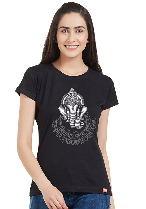 Ganesha Mantra (Glow In Dark) Women Tshirt