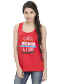 Girl Women Lady Sleeveless T-shirt