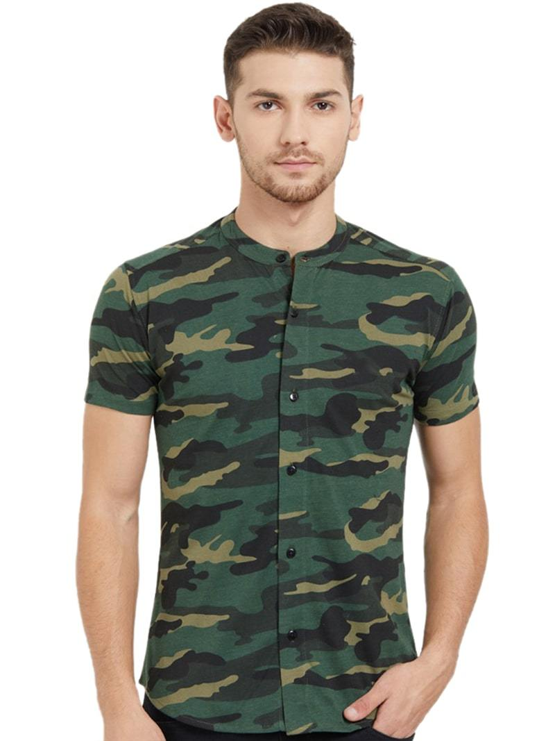 Green camo Shirts- Slim Fit