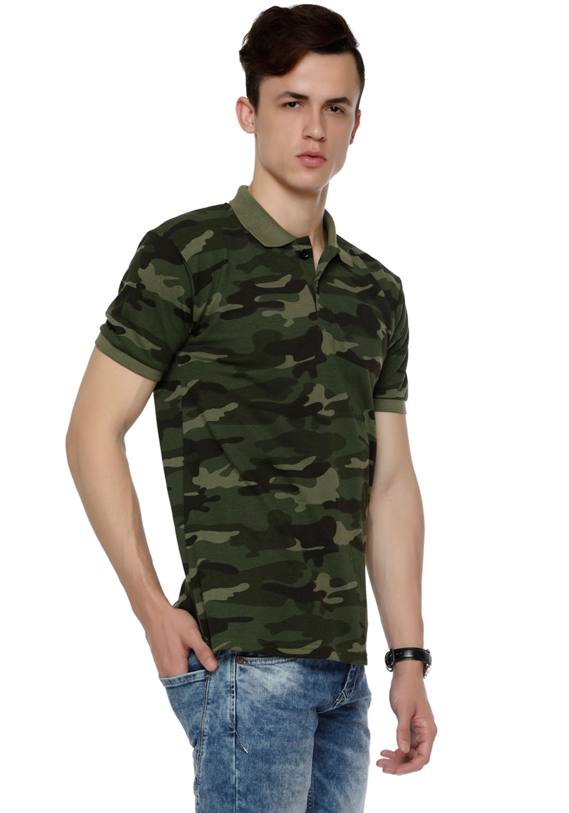 c81d689b Army Green Camouflage Polo T Shirt - Wear Your Opinion  WYO – Wear ...