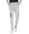 Grey Mel Side Stripe Jogger