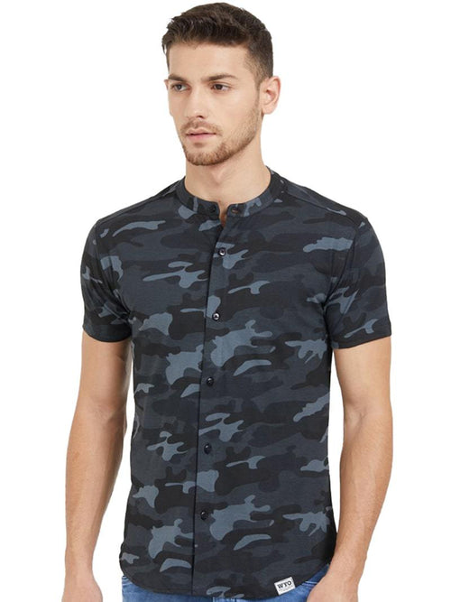 Grey Camo Shirts- Slim Fit