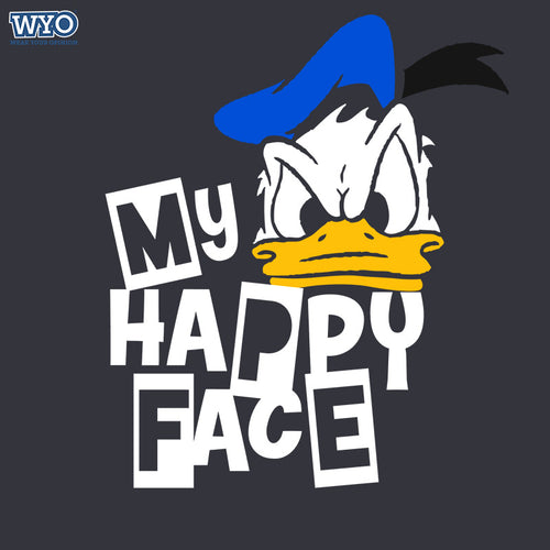 Happy Face Donald Duck Women Tshirt