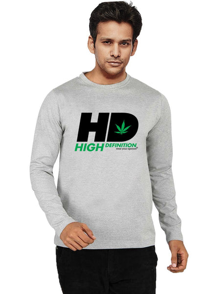 High Definition Mens Full Sleeve T-Shirt - Wear Your Opinion - WYO.in  - 1