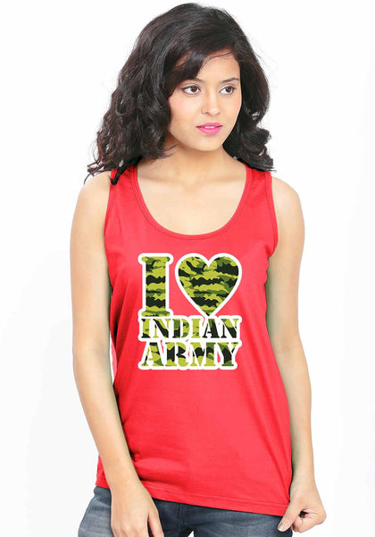 Army Love Sleeveless T-Shirt