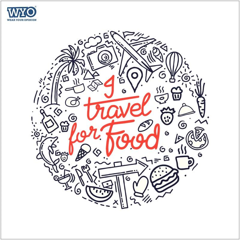 Travel For Food Women Tshirt
