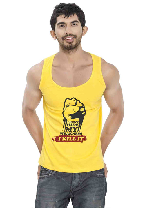 I Kill It Sleeveless T-Shirt - Wear Your Opinion - WYO.in  - 2