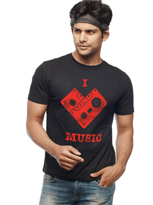 I Love Music T-Shirt - Wear Your Opinion - WYO.in  - 2
