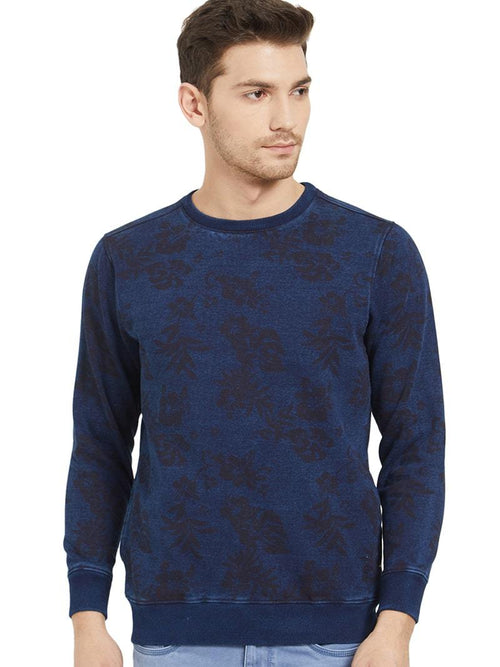 Indigo Allover Print - Sweatshirt