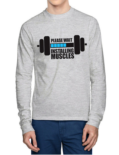 Installing Muscles Men'S Full Sleeve T-Shirt - Wear Your Opinion - WYO.in  - 1