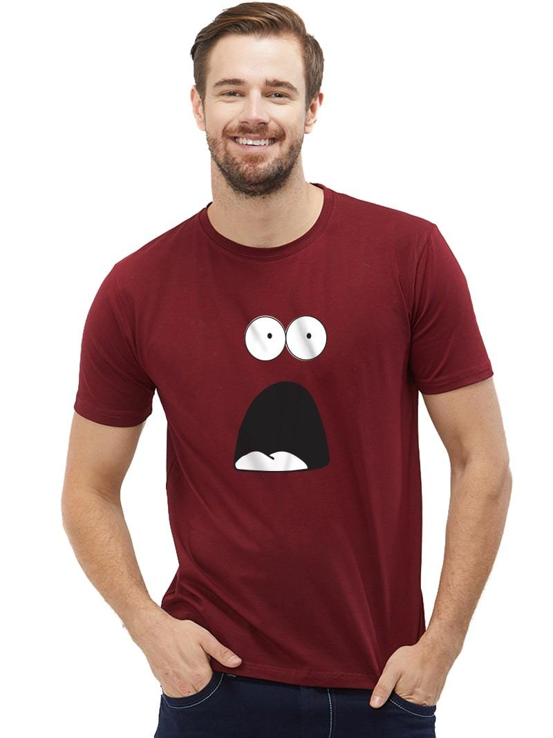 Jaw Dropping Face: Buy Jaw Drop Face Graphic T-shirt