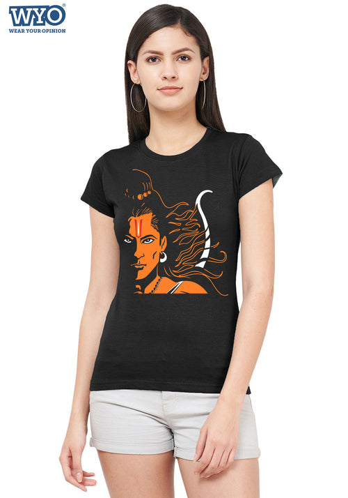 The Fierce Shri Ram Women Tshirt