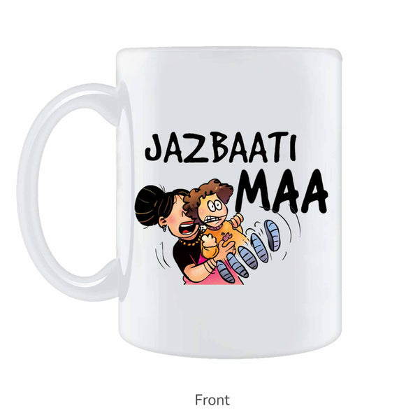 Jazbaati Maa Coffee Mug - Wear Your Opinion - WYO.in  - 1