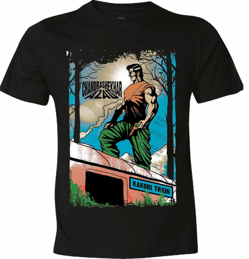 Chandrashekar Azad Kakori Train T-Shirt - Wear Your Opinion - WYO.in  - 2