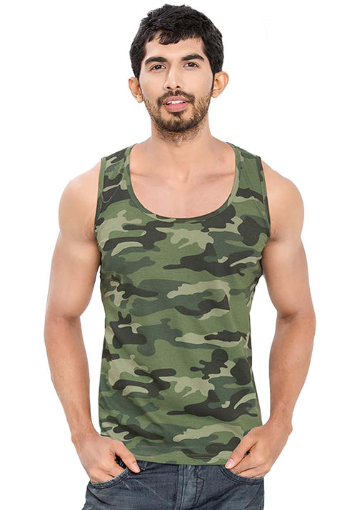 Plain Tanks - Green Camo