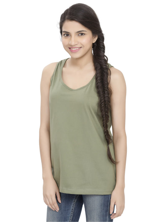 Plain Tanks - Khaki