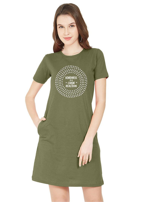 Kindness Women T-Shirt Dress