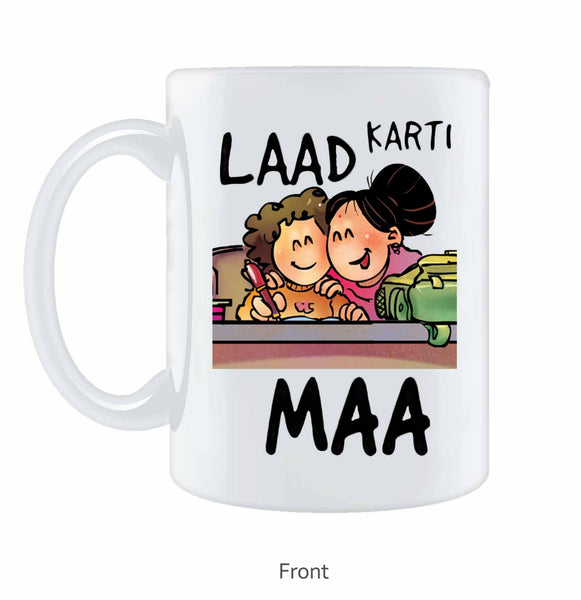 Laad Karti Maa Coffee Mug - Wear Your Opinion - WYO.in  - 1