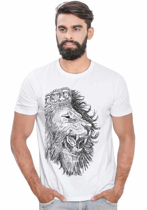 White Lion T-Shirt - Wear Your Opinion - WYO.in  - 1