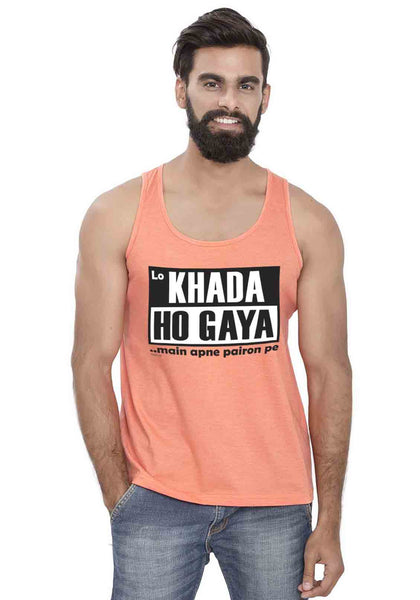 Lo Khada Ho Gaya Sleeveless T-Shirt