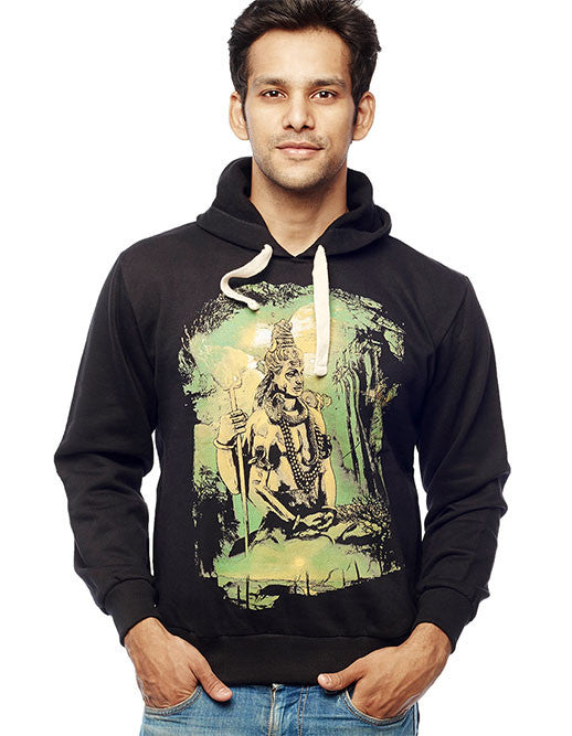 Lord Shiva Front Print Sweatshirt - Wear Your Opinion - WYO.in  - 1