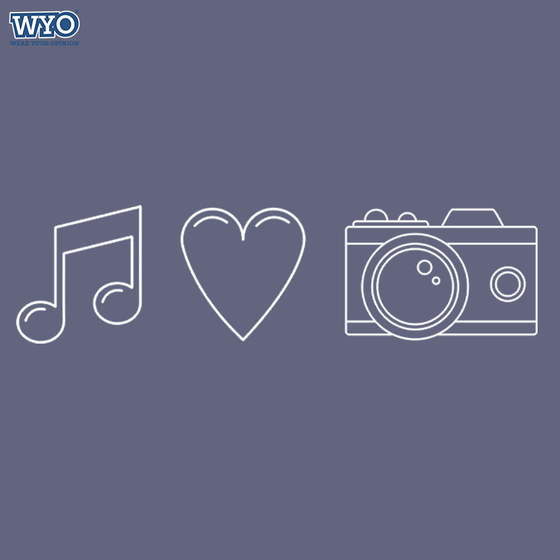 Music Love Camera T-shirt