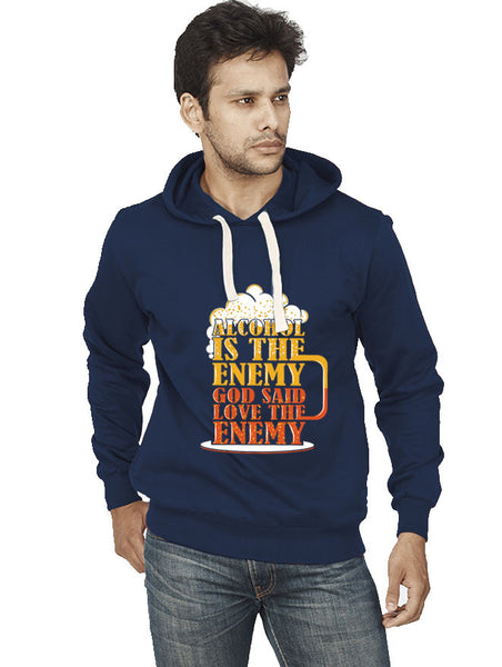 Love The Enemy Front Print Sweatshirt - Wear Your Opinion - WYO.in  - 1