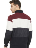 Maroon Placket Sweatshirt