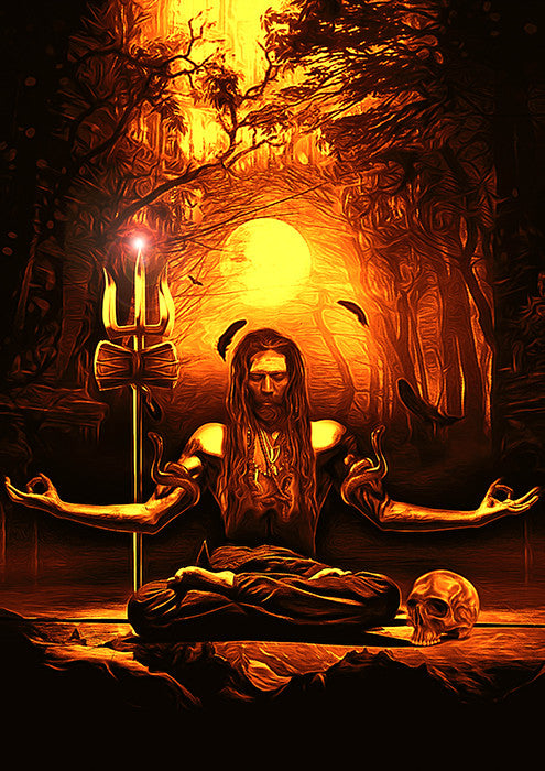 Meditation Aghori Poster - Wear Your Opinion - WYO.in
