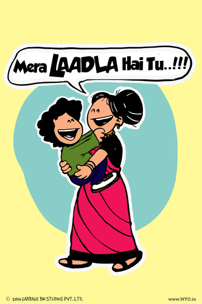 Mera Laadla Poster - Wear Your Opinion - WYO.in
