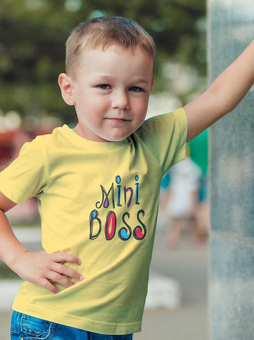 Mini Boss Kids T-Shirt