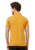 Basic Slim Fit PQ Polo T-Shirt - Mustard