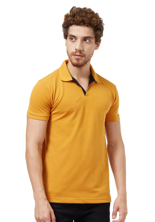 Basic PQ Polo T-Shirt - Mustard