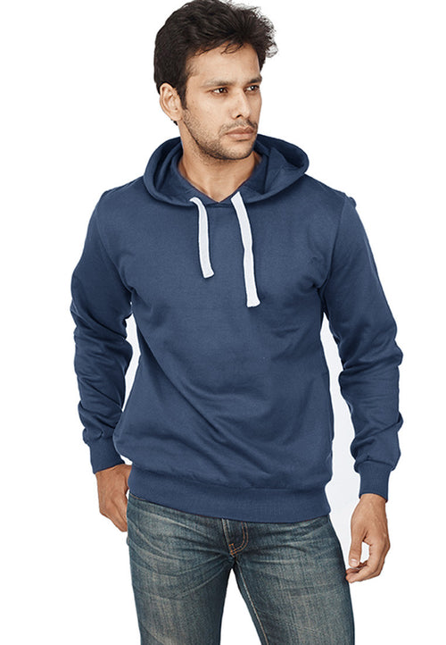 Navy Blue Plain Sweatshirt - Wear Your Opinion - WYO.in  - 1