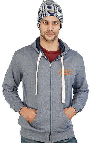 Grey Color Plain Zipper Sweatshirt - Wear Your Opinion - WYO.in  - 1